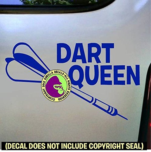 (Darts - DART QUEEN Vinyl Decal Sticker E)