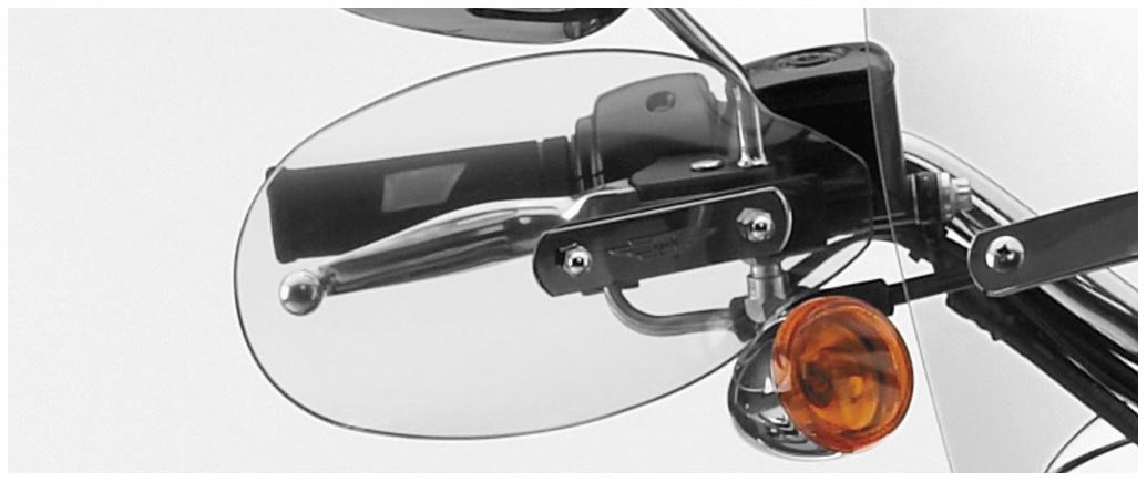 National Cycle Hand Deflectors For Kawasaki VN800/1500/1600 Vulcan/Suzuki C50/S50/S83/C90 Boulevard/VS800/1400 - Clear - N5511 4333036305