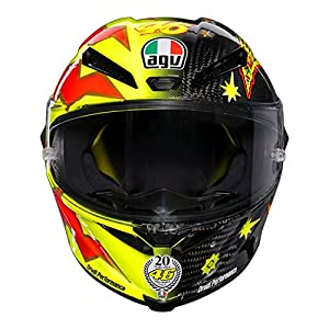 AGV Pista GP-R Limited Edition Carbon Fiber Valentino Rossi 20 Year Anniversary Helmet 51n0O7LYJ4L