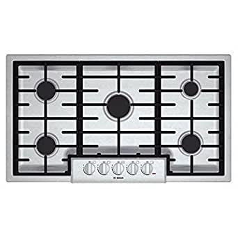"Bosch NGM8655UC 800 36"" Stainless Steel Gas Sealed Burner Cooktop"