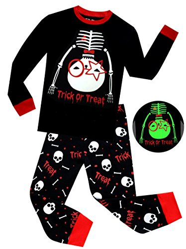 e2e2dfeef Jual Boys Pajamas Glow in The Dark Halloween Skeleton Children ...