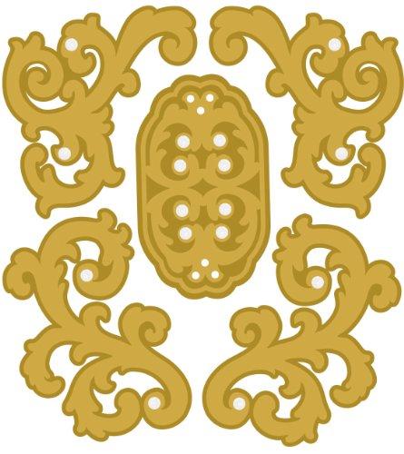EK Success Brands Jolee's Boutique Dimensional Stickers, Parcel Gold Felt - Ek Felt Jolees Boutique
