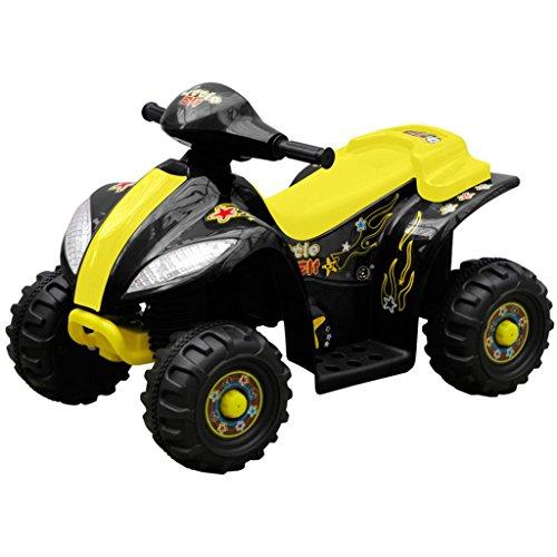 vidaXL Kinder Elektro Quad 3 km/h Akku schwarz-gelb