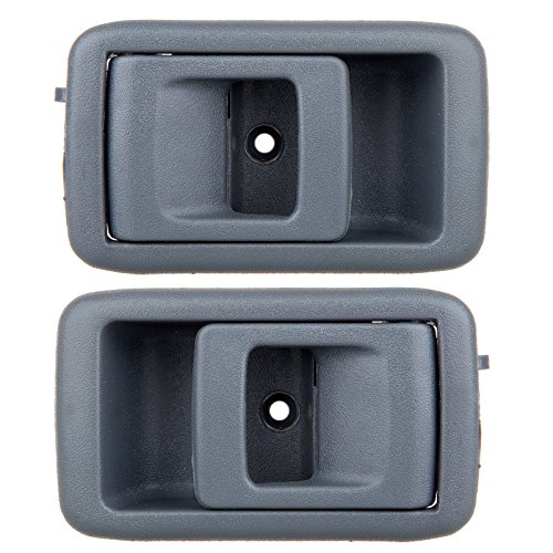 ECCPP Door handles Interior Inside Inner Front Driver Passenger Side Replacement for 2001 2002 2003 2004 Toyota Tacoma Gray(2pcs)
