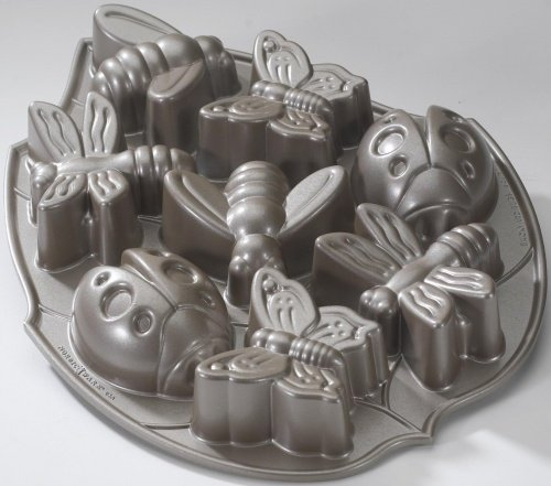 Backyard Bugs Cake Tin - Platinum Series - by Nordic Ware - Bundt and other cakes, jelly, savoury