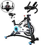 L NOW Indoor Cycling Bike Stationary Exercise Bike Quiet and Smooth with Tablet