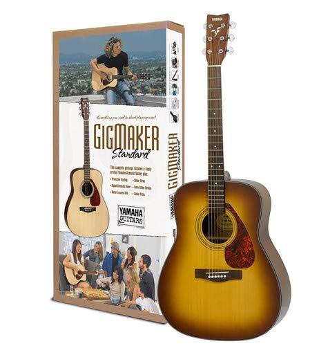 Yamaha Gigmaker Standard Acoustic Guitar w/ Gig Bag, Tuner, Instructional DVD, Strap, Strings, and Picks - Sunburst by YAMAHA