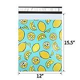 UCGOU Poly Mailers 12x15.5 Inch Lemon Designer 100