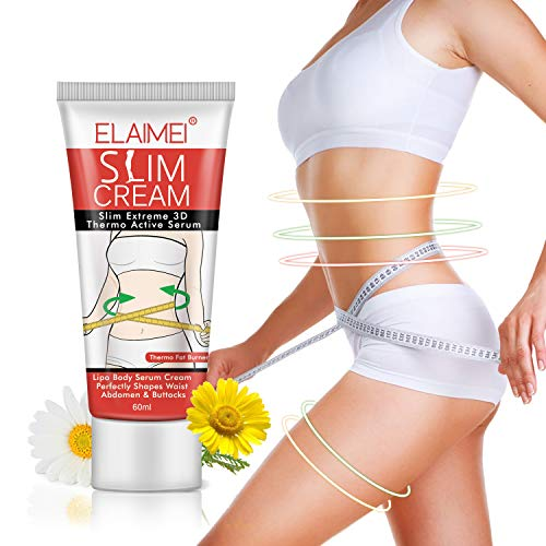 (Hot Cream, Cellulite Removal Cream Natural Slim Firming Body Cream, Anti Cellulite Slimming Fat Burner for Shaping Waist, Abdomen and Buttocks 60ml)