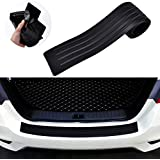 Goodream Rear Bumper Protector Guard Universal Black Rubber Scratch-Resistant Trunk Door Sill Protector Accessory Trim Cover for SUV/Cars,Easy D.I.Y (35.8Inch)