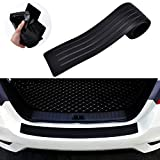 Goodream Rear Bumper Protector Guard Universal Black Rubber Scratch-Resistant Trunk Door Sill Protector VW Tiguan Atlas Accessories Trim Cover for SUV/Cars,Easy D.I.Y (35.8Inch)