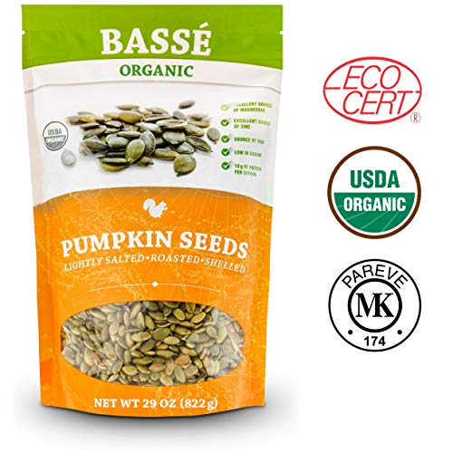 (BASSE ORGANIC PUMPKIN SEEDS LIGHTLY SALTED. ROASTED, SHELLED 29 Oz (822g))