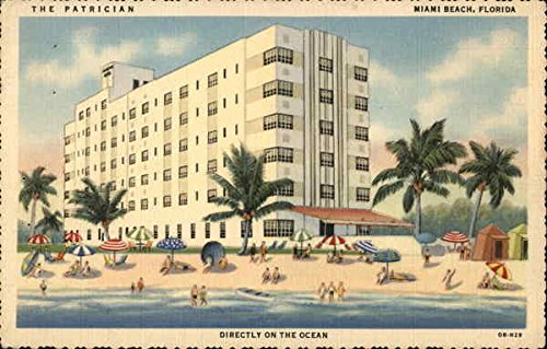 (The Patrician Hotel Miami Beach, Florida Original Vintage Postcard)