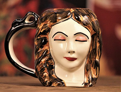 Weird Wolf Lady Margaret Hand-Crafted Coffee Mug for Gifting(Glossy Pearl) ()