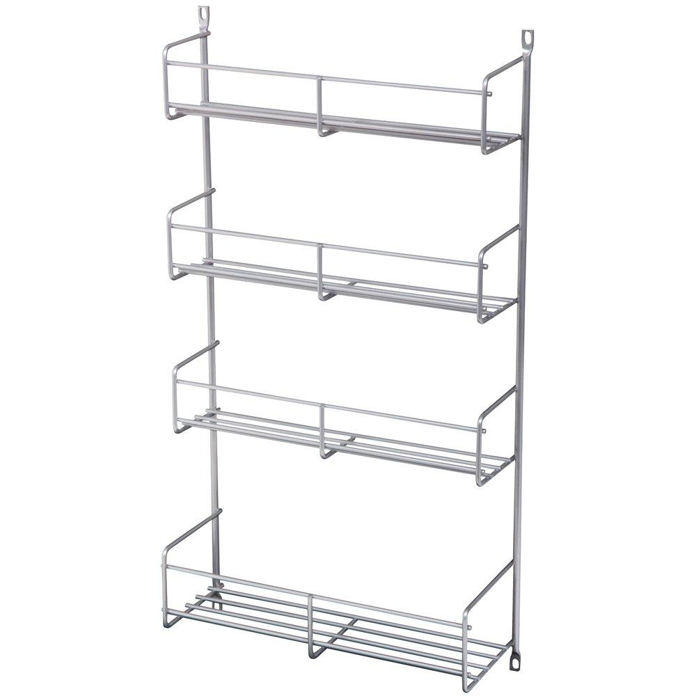 20-Inch by 13.81-Inch by 3.88-Inch Knape /& Vogt SR18-1-W Door Mount Spice Rack Cabinet Organizer