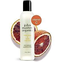 John Masters Organics - Blood Orange & Vanilla Body Wash - Gentle Non Drying Foaming Lather to Cleanse & Soften Skin with Vitamin A & C - 8 oz