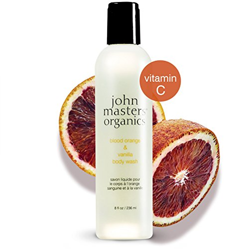 Orange Blood Facial Cleanser (John Masters Organics - Blood Orange & Vanilla Body Wash - Gentle Non Drying Foaming Lather to Cleanse & Soften Skin with Vitamin A & C - 8 oz)