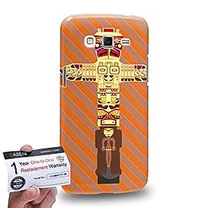Case88 [Samsung Galaxy Grand 2] 3D impresa Carcasa/Funda dura para & Tarjeta de garantía - Art Design Tiki Collection Tiki B