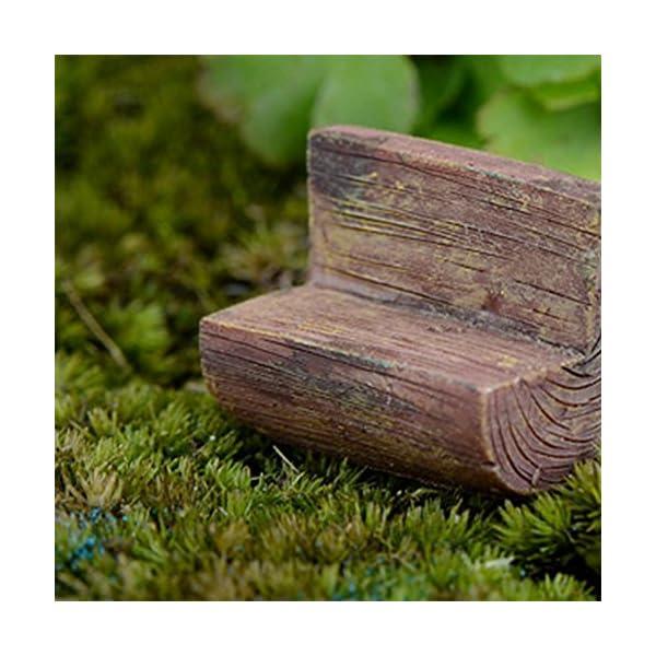 Da.WA mini Fairy Garden Park sedia divano Bench Model Home Decoration Outdoor Decor 5 spesavip