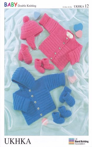 Ukhka12 Hat Gloves Boots Hooded Jumpercardigan Baby Double