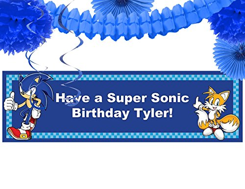 Sonic the Hedgehog Party Supplies - Party Banner Decoration Kit (Sonic Decorations)