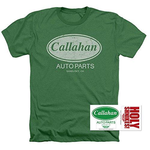 Popfunk Tommy Boy Callahan Auto Parts Heather T Shirt (XX-Large) - Farley Chris Shirt T