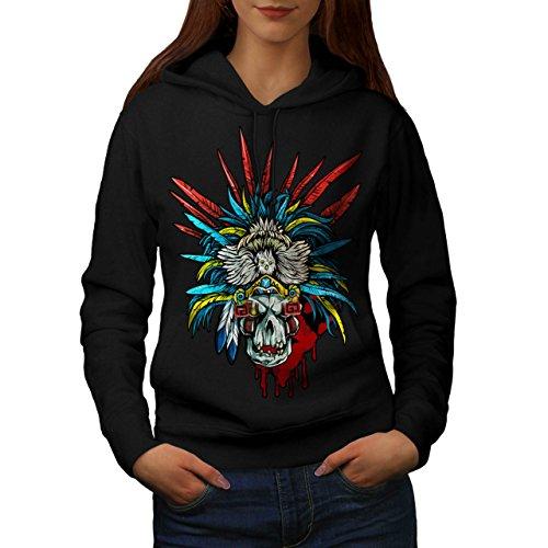 [Skull Indian Warrior Costume Women M Hoodie | Wellcoda] (Mayan Warrior Costumes)