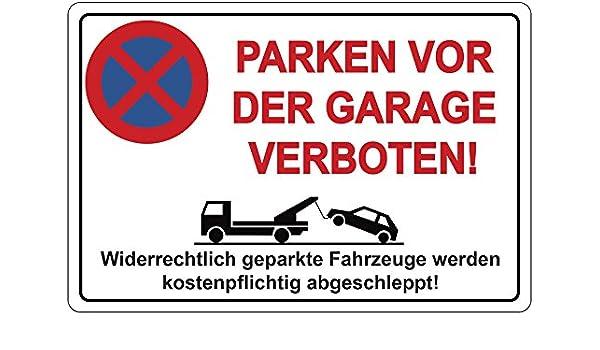Cartel prohibido aparcar para el garaje Prohibido aparcar ...