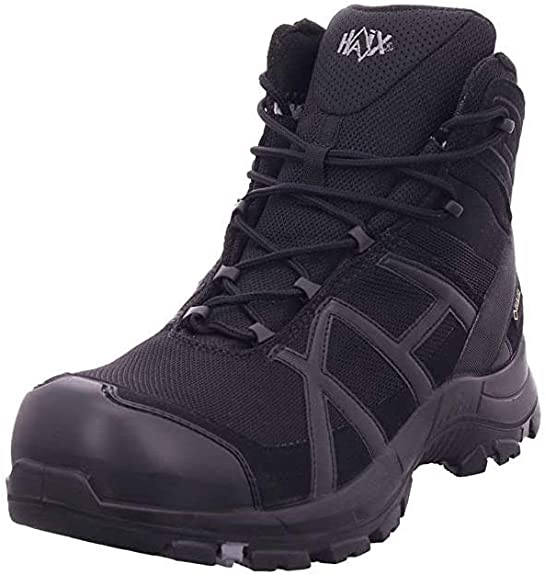 Haix s3 Work Shoe in Black//Silver Black Eagle Safety 40 Mid All Sizes