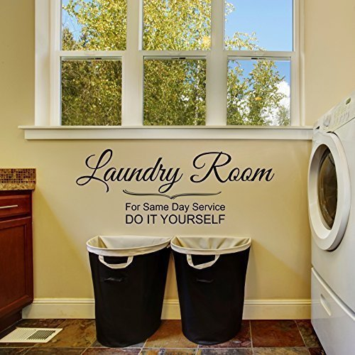 Laundry Same Day DIY Wall Decal