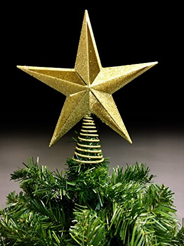 Christmas Traditions 10 inch Gold Glittered Filigree Christmas Star Tree Topper Star/Home Decor Ornaments