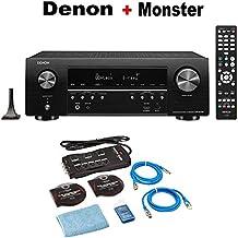 Denon AV Receivers Audio & Video Component Receiver BLACK (AVRS740H) + Monster Home Theater Accessory Bundle