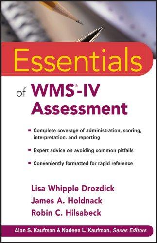 Essentials of WMS-IV Assessment