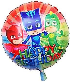 CDC – PJ Masks: Héroes en pijama, globo de papel de aluminio, redondo para fiestas