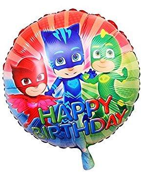 CDC – PJ Masks: Héroes en pijama, globo de papel de aluminio, redondo