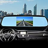 Zone Tech 4.3 Inch TFT Car Auto LCD Screen Rear Monitor View Rearview DVD AV Mirror