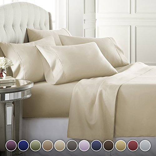 6 Piece Hotel Luxury Soft 1800 Series Premium Bed Sheets Set