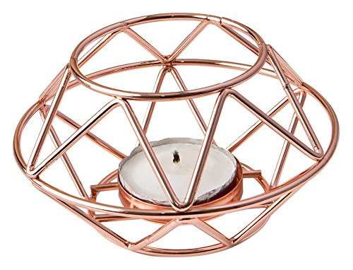 Fashioncraft 8742 Geometric Design Rose Gold Metal Tealight...