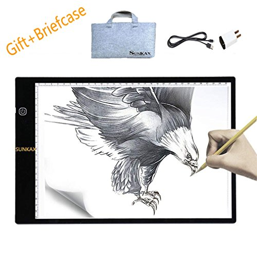 Tracing Light Box A4 Ultra-Thin Portable LED Light Box Tracer SUNKAX Led Drawing Board Led Light Pad of Interface and Super Thin Drawing Light Box Pad Copy (Best Neo Traditional Tattoo Artists)