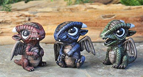 Georgetown Home Garden Miniature Baby Dragons Assorted Garden Decor Set Of 3