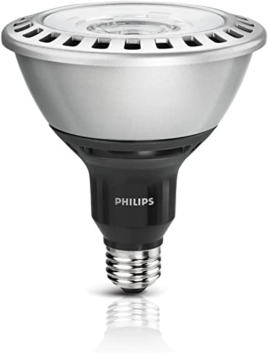 Philips 432013 120 Watt Equivalent LED PAR38 3000K 25 Degree Flood, Dimmable, Silver