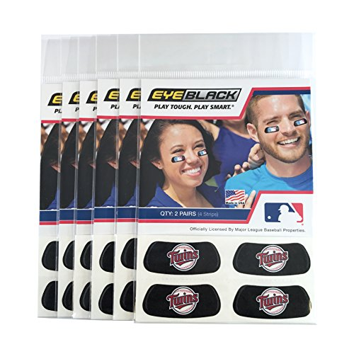 (24 Strips) Minnesota Twins MLB Eye Black Anti Glare Strips, Great for Fans & Athletes on Game - Stick Minnesota Twins Big