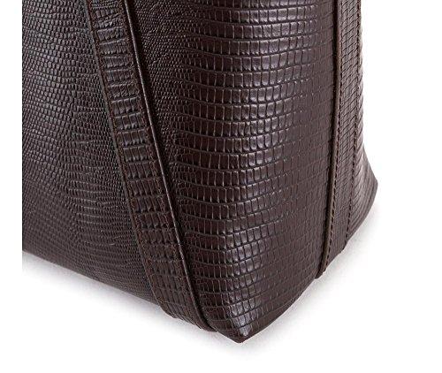 WITTCHEN Borsa classica, Marrone - Dimensione: 27x34cm - Materiale: Pelle di grano -Accomoda A4: Si - 15-4-208-4J