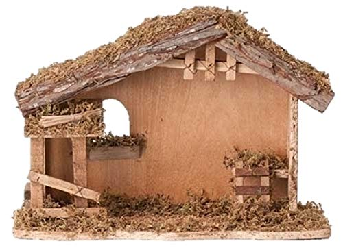 10 Inch High 13 Inch Wide Fontanini Nativity Stable - By Roman 5 Inch Scale]()