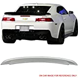 Pre-painted Trunk Spoiler Fits 2014-2015 Chevy Camaro | Factory Style ABS #WA636R Switchblade Silver Metallic Rear Deck Lip Wing Bodykits by IKON MOTORSPORTS