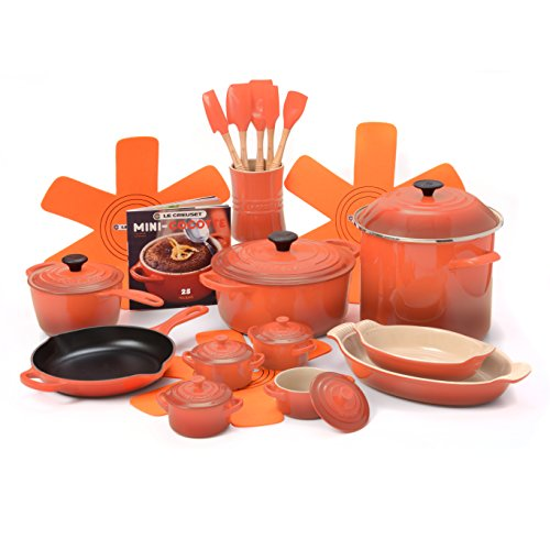 Le Creuset Flame 21 Piece Cookware Set with 5.5 Quart Dutch Oven