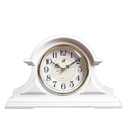 WTY Reloj de Mesa Vintage Reloj de la Chimenea con numeros Grandes ...