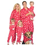 SleepytimePjs Red Snowflakes Family Matching Flannel Pajamas (2T)