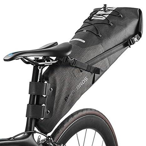 ShopSquare64 ROCKBROS 10L Impermeable Silla de Bicicleta de Bicicleta Bolsa Cola de Bicicleta Plegable de reflexión Trasera Bolsa Bicicleta de MTB Mochila: ...