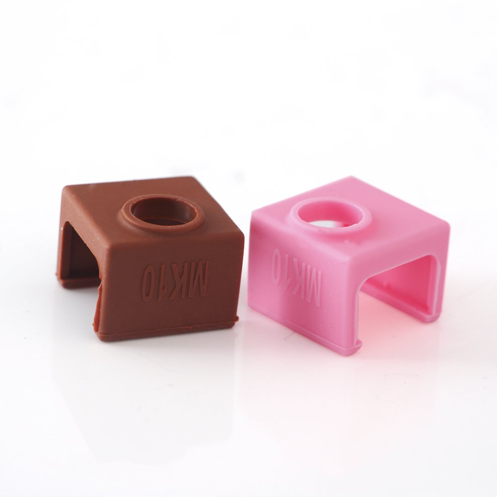 4PCS Silicone Case Cover Sock Shell for V6 Aluminum Block 3D Printer Part Hot End Co-link